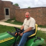 Custodian on red nose day